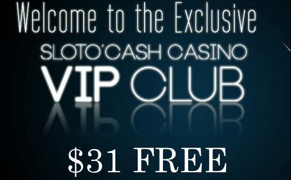 Slotocash $31 Free Bonus