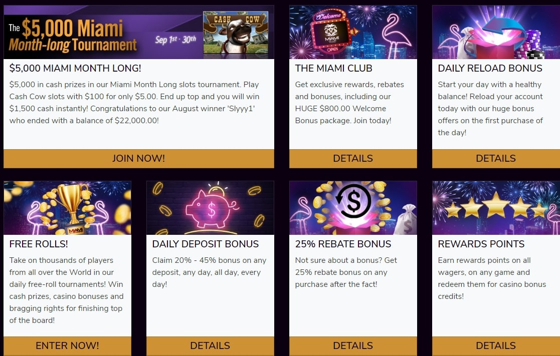 Miami Club Casino Offers